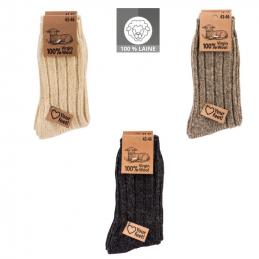 Chaussettes 100 % laine